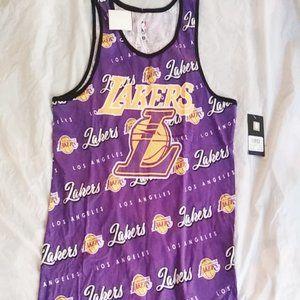NBA La Lakers Active Purple Team Jersey Sz Medium